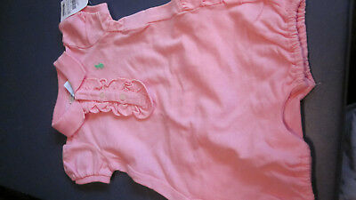 Nwt Gorgeous Ralph Lauren Girls S/S One Piece Mesh Polo Style Outfit Pink 6M