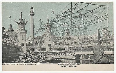 CONEY ISLAND PC Postcard NEW YORK CITY Amusement Park LUNA PARK Hippodrome
