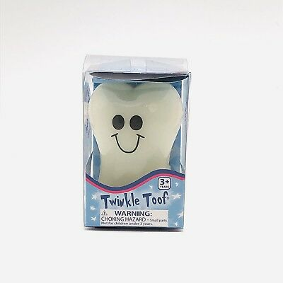 Twinkle Toof Glow In The Dark Tooth Shaped Box Glowing Tooth Fairy