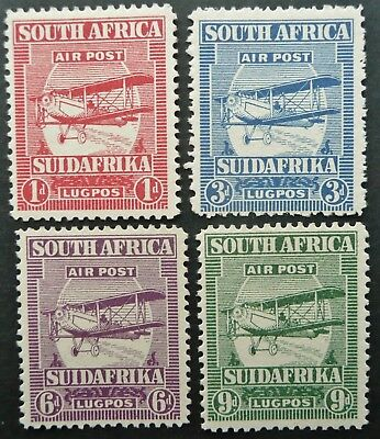 South Africa 1925 Airmail Stamp Set - Mlh - See!