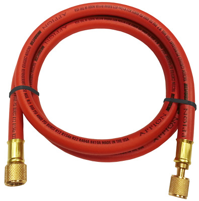 Appion MH380006EAR - 3/8' Dia. Hose, 6-foot, 3/8'FL to 1/4'FL Red