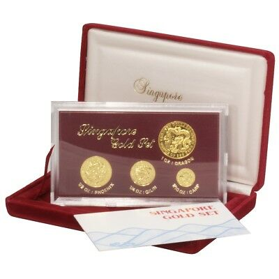 Singapore Gold Set - 1984 - 1.85oz .999 fine gold. Year of the Dragon!