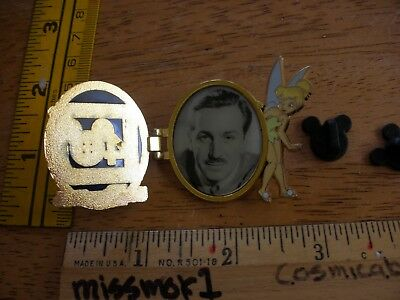 Walt Disney World 40 years Walt hinged locket Tinkerbell Disney Pin