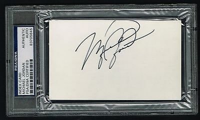 Michael Jordan Autografata Auto 3x5 Index Cartoline Recluta Year PSA/DNA