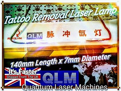 2x Tattoo Removal Laser Machine replacement Lamps 140mm long 6 /7mm Diameter