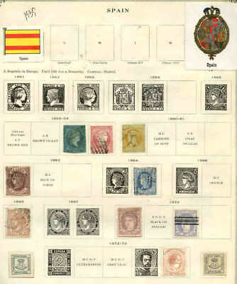 Spain 2 Album Pages Collection Lot First Issues
