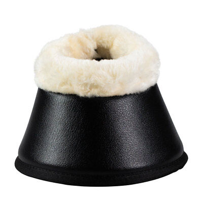 CP1903 Horze Bell Boots with Faux Fur Pile Lining - Black NEW