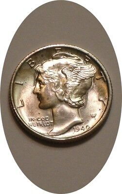 1940 S Mercury Dime very Choice BU FB sparkling Luster BRILLIANT FROSTY SURFACES
