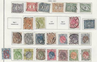 25 Netherlands Stamps from Quality Old Antique Album 1899-1921
