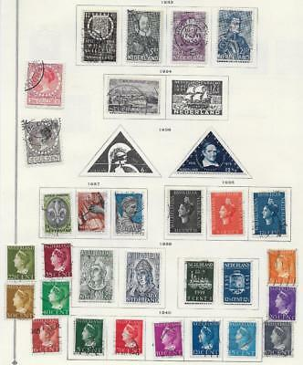 31 Netherlands Stamps from Quality Old Antique Album 1933-1940