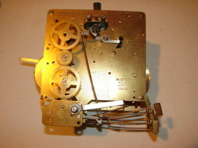 Vintage Clock Mechanism Gears Movements Wuersch 2 Jewels West Germany Parts