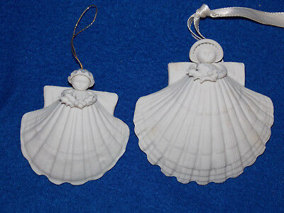 """EXCLNT MARGARET FURLONG Angel 3"""" & 4"""" Holly 1983 Christmas Ornament RETIRED 1998"""