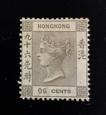 HONG KONG 24  Very  Nice  Mint  Hinged  VICTORIA  Issue  VF  od p96