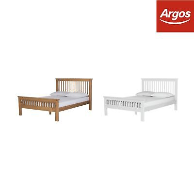 Argos Home Aubrey Small Double Bed Frame - Choice of Oak or White