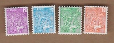 1961 Cambodia, Soldiers, SG 118/20 MLH Set 4