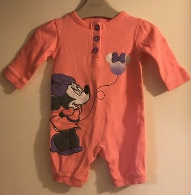 Baby Girls George Disney Minnie Mouse All In One Outfit. Age Firstsize 9lbs