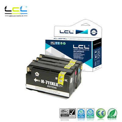 LCL Compatible Ink for HP 711XL 711 XL (4-Pack) Designjet T120 24 T120 NON OEM
