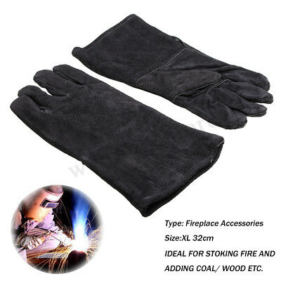 32cm XL Heavy Duty Welding Gloves Stoves PU Leather Cowhide Protect Welder Hands