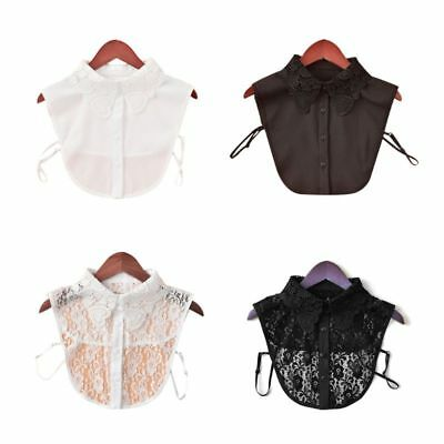 Women Lace Fake Collars Detachable Lapel Choker Necklace Shirt False Collar