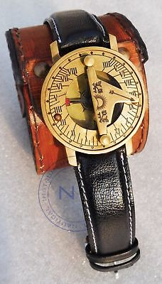 Nautical style Marine Brass Sundial compass Wrist Watch Type Best For Gifted