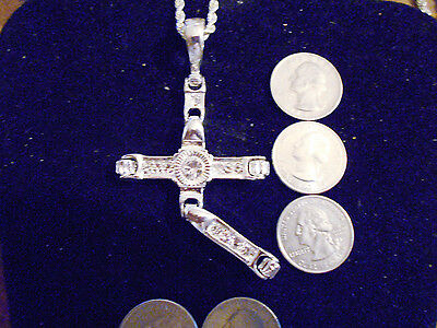 bling silver plated jesus cross crucifix PENDANT charm hip hop necklace JEWELRY