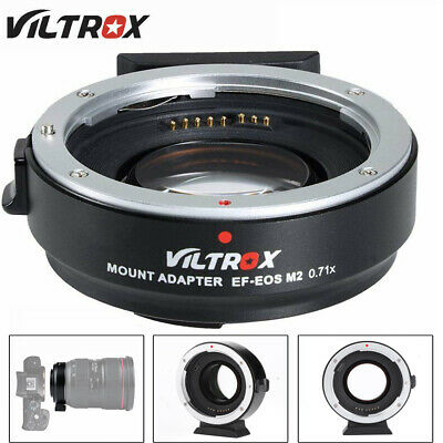 VILTROX EF-EOS M2 Adapter AF0.71x Speed Booster For Canon EF Lens to EOS-M