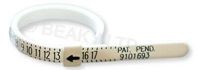 Quality Ring Sizer Finger Gauge (US Sizes 1-17 Man / Woman / Child) Re-Use!