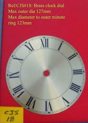 27/2:cjsd#18  Replacement  brass  clock dial 127mm od