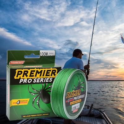 10-100LB Super Strong Fishing Line Green Spectra Extreme Braided 4 Strand 100M
