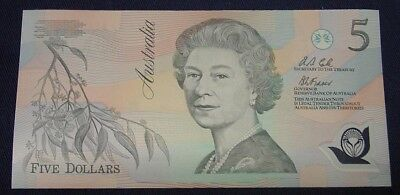 1992 $5 Fraser/Cole. 1st type polymer issue, Uncirculated..