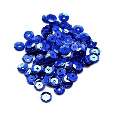 Packet 30g Dark Blue Acrylic 6-7mm Cupped Sequins (Loose) Y12995