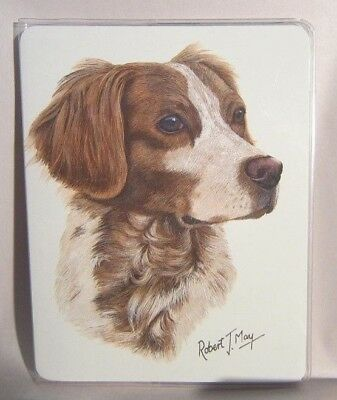Retired Dog Breed BRITTANY Vinyl Softcover Address Book by Robert May