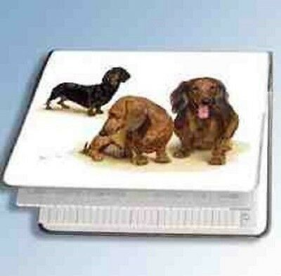Retired Dog Breed DACHSHUND TRIO Vinyl Softcover Address Book by Robert May