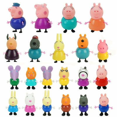 Peppa Pig 21 Mini Figure Pack Playset Cute Family and Friends with Bonus Bag