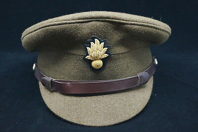 Cold War Grenadier Guards Officers Khaki Peaked Cap Hat Staybrite Buttons