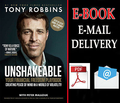 """Unshakeable : Your Financial Freedom Playbook By tony robbins """""""" E-ß00K """""""