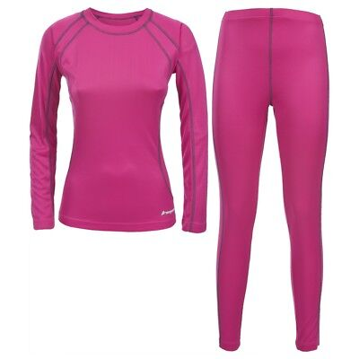 Trespass Womens/Ladies Glees Base Layer Top And Bottoms Set (TP627)
