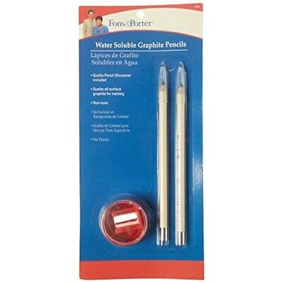 Fons & Porter Water Soluble Graphite Pencil & Sharpener-