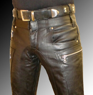 Apparel & Merchandise Designer Lederhose 50 Lederjeans Neu Schwarz W34 Leather Trousers Pants 34 Cuir Clothing, Shoes & Accessories