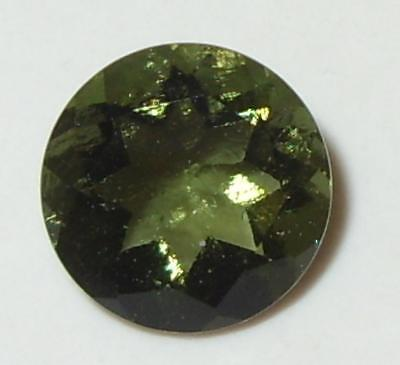 1.97ct Faceted TOP QUALITY Natural Czechoslovakia Moldavite Round Cut 9mm