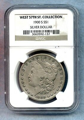 1900 S ~ Morgan Silver Dollar ~ Ngc ~ West 57Th St Collection