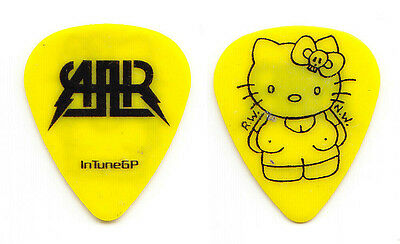 All American Rejects Hello Kitty Yellow Guitar Pick - 2009 Tour