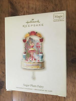 Hallmark Keepsake Ornament Sugar Plum Fairy 2008 Magic Sound Motion NIB Candy