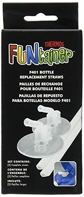 Thermos Replacement Straws for 12 Oz Funtainer Bottle Clear PACK OF 2