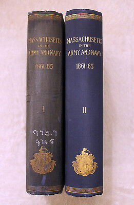 1896 MASSACHUSETTS IN ARMY & NAVY Civil War History THOMAS HIGGINSON Military MA