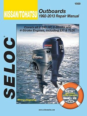 Seloc Repair Manual Nissan Tohatsu 1992-2013 - 2.5-140 HP 2 & 4-Stroke 18-01500