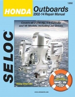 Seloc Repair Manual Honda 2002-2014 - 2-250 HP - 1-4 Cylinder & V6 - 18-01202