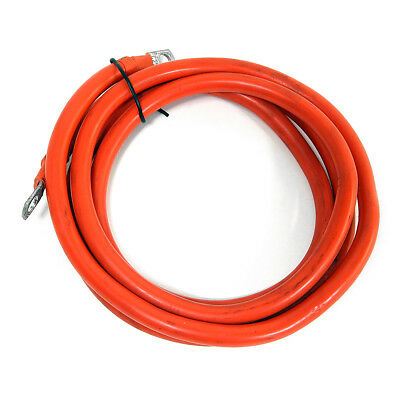 Red Power Amplifier Installation Cable 6 Foot 0 Gauge 0.31 Diameter Bolt