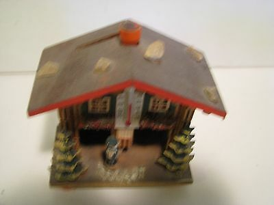 Vintage WEST German WOODEN  Bank AND THERMOMETER  SOUVENIR CHALET