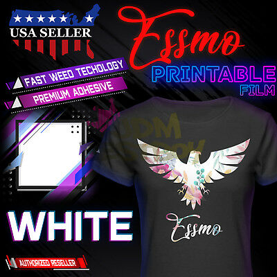 "Essmo™ White Printable Heat Transfer Vinyl HTV T-Shirt 20"" Iron Heat Press DD03"